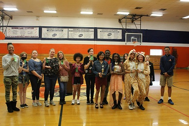 teachers wearing red